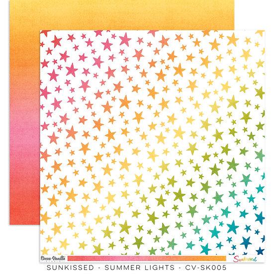 Cocoa Vanilla Studio 12x12 Paper Sunkissed -Summer Lights