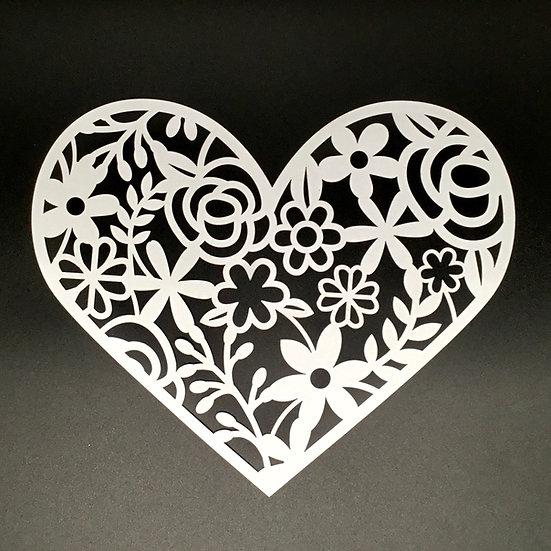 Floral Heart Cut File