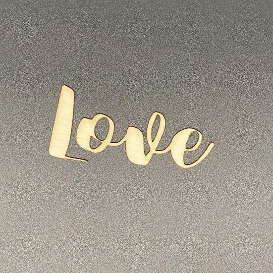 Wood Veneer Words - Love