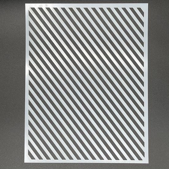Diagonal 8.5 x 11 Stencil