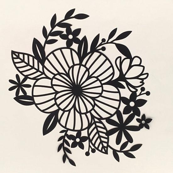 Large Floral Pre-Cut Cut File