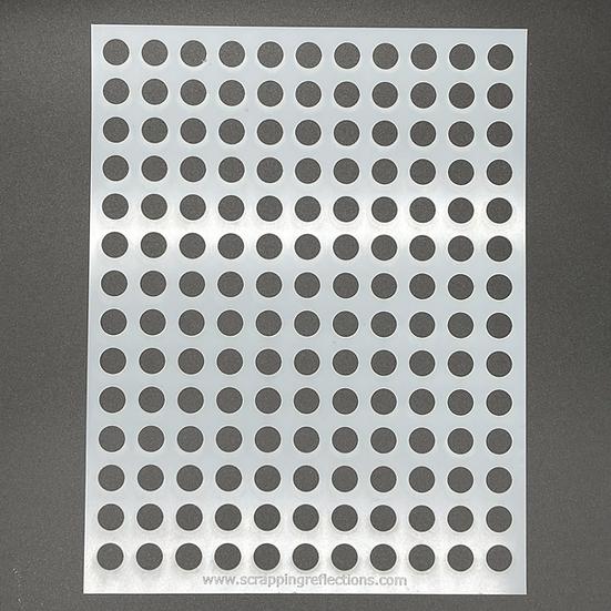 Peek a Dot Grid 8.5 x 11 Stencil