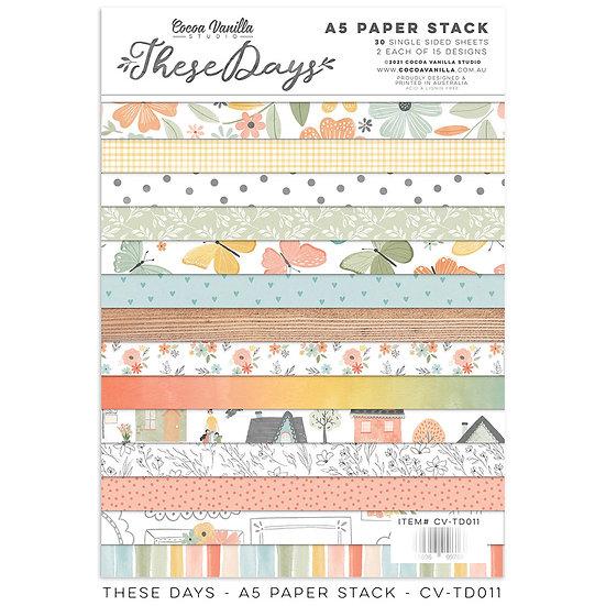 These Days A5 Paper Stack // Cocoa Vanilla Studio