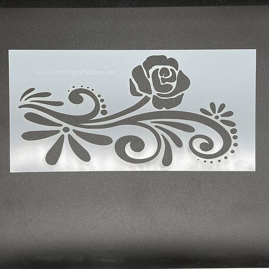 Floral Flourish 6 x 12 Stencil