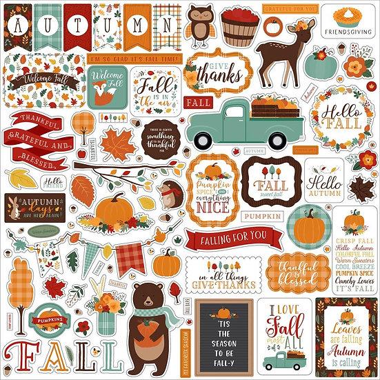 Echo Park Happy Fall 12x12 Cardstock Stickers