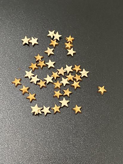 Tiny Star Wood Veneer Confetti
