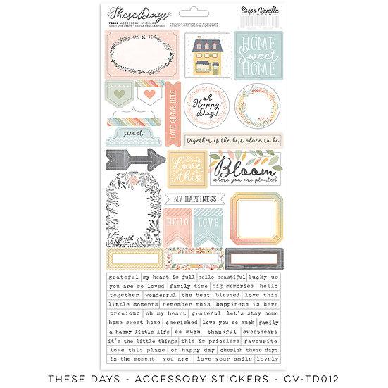 These Days Accessory Stickers // Cocoa Vanilla Studio