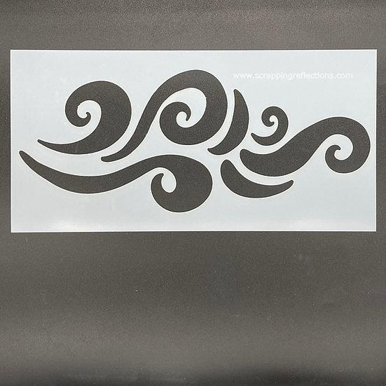 Wavy Days 6 x 12 Stencil