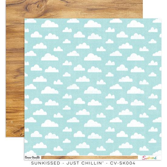 Cocoa Vanilla Studio 12x12 Paper Sunkissed -Just Chillin'