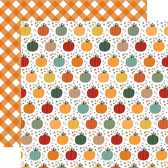 Echo Park Happy Fall 12x12 Paper // Pumpkin Spice