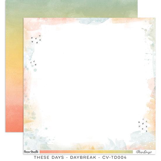 These Days 12 x 12 Paper Daybreak // Cocoa Vanilla Studio
