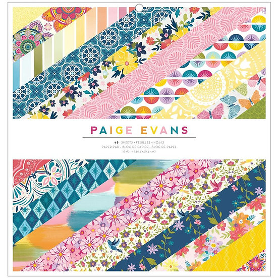 "Paige Evans Wonders  Single-Sided Paper Pad 12""X12"""