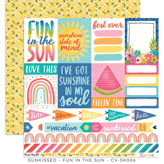 Cocoa Vanilla Studio 12x12 Paper Sunkissed -Fun in the Sun