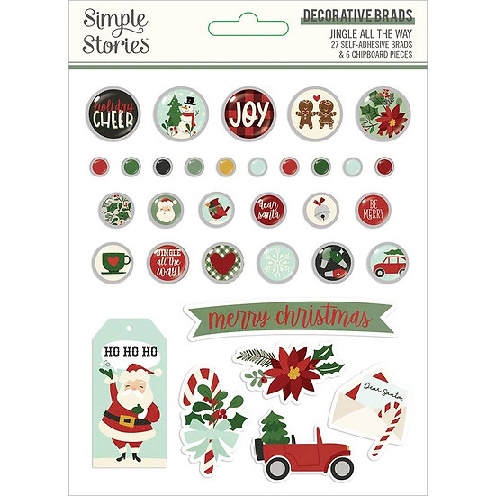 Simple Stories / Jingle All the Way Decorative Brads