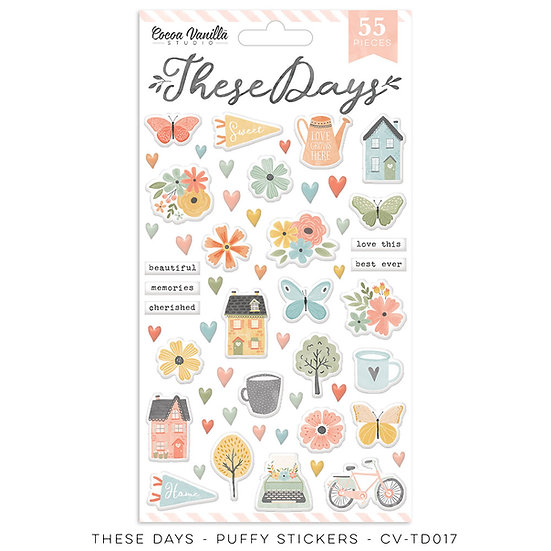 These Days Puffy Stickers // Cocoa Vanilla Studio