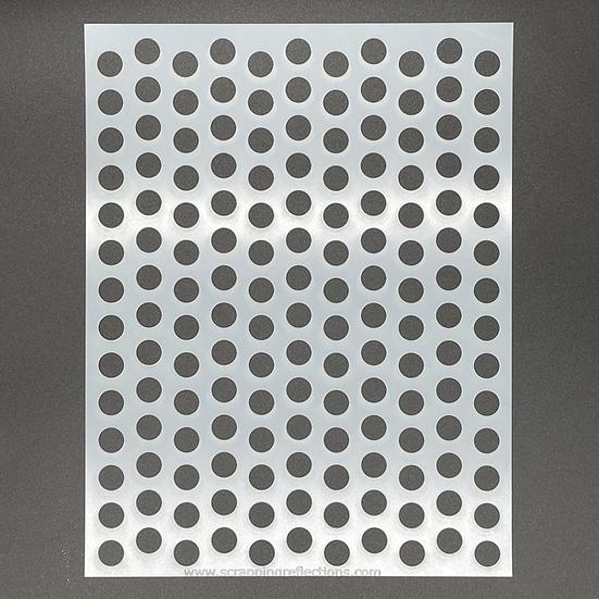 Peek a Dot 8.5 x 11 Stencil
