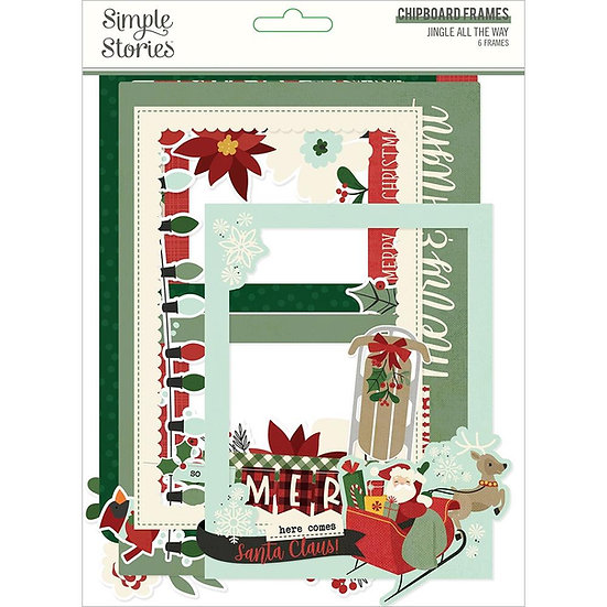 Simple Stories / Jingle All the Way Chipboard Frames