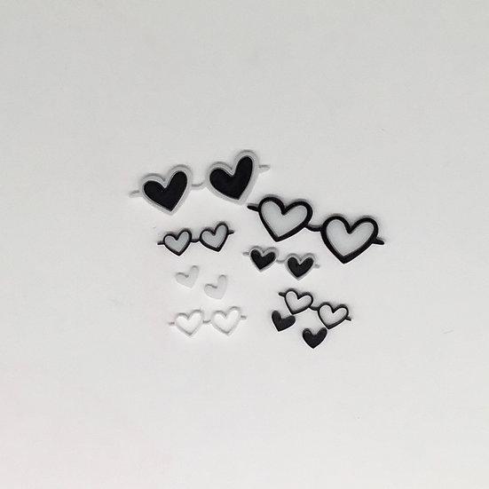 Heart Sunglasses Acrylic