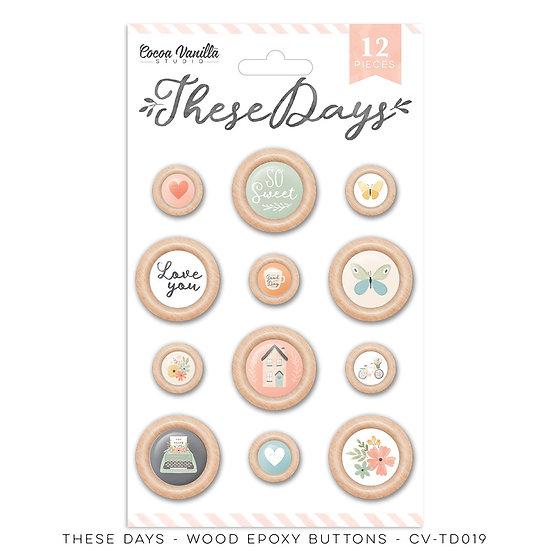 These Days Wood Epoxy Buttons // Cocoa Vanilla Studio