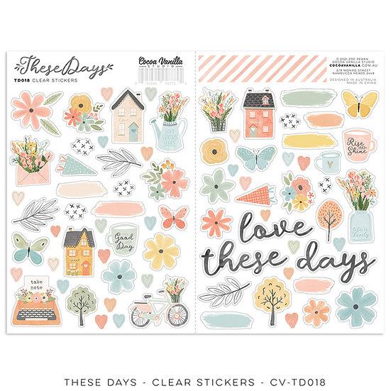 These Days Clear Stickers // Cocoa Vanilla Studio