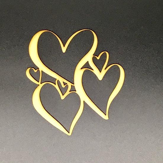 Wood Veneer Heart Frames