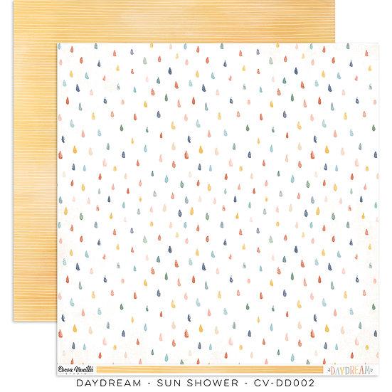 Cocoa Vanilla Studio 12 x 12 Paper -Daydream -  Sun Shower