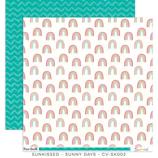 Cocoa Vanilla Studio 12x12 Paper Sunkissed - Sunny Days