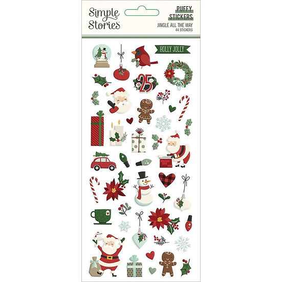 Simple Stories / Jingle All the Way Puffy Stickers