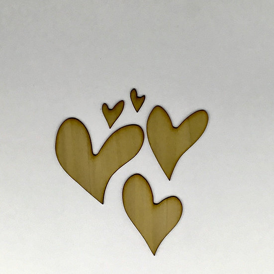 Abstract Heart Wood Veneer