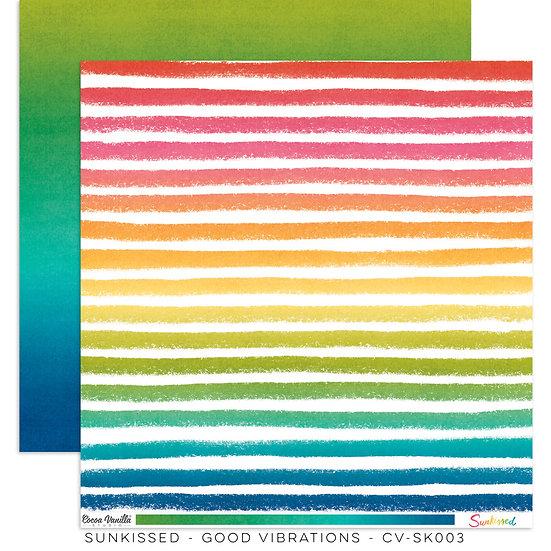 Cocoa Vanilla Studio 12x12 Paper Sunkissed - Good Vibrations