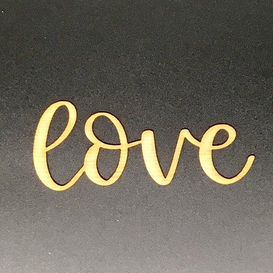 """""""Love"""" WoodVeneer Word - Large"""
