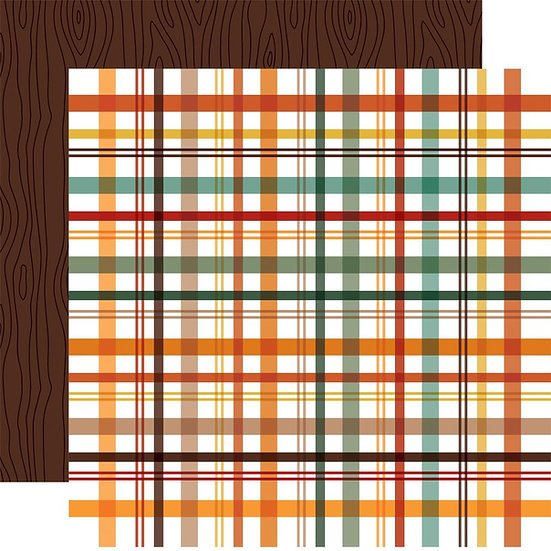 Echo Park Happy Fall 12x12 Paper // Picnic Plaid