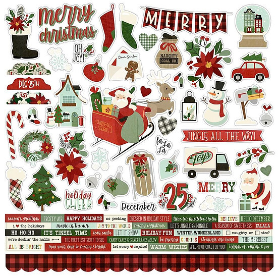 Simple Stories / Jingle All the Way 12x12 Stickers