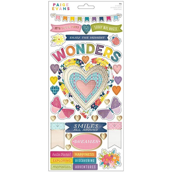 """Paige Evans Wonders Cardstock Stickers 6""""X12"""""""
