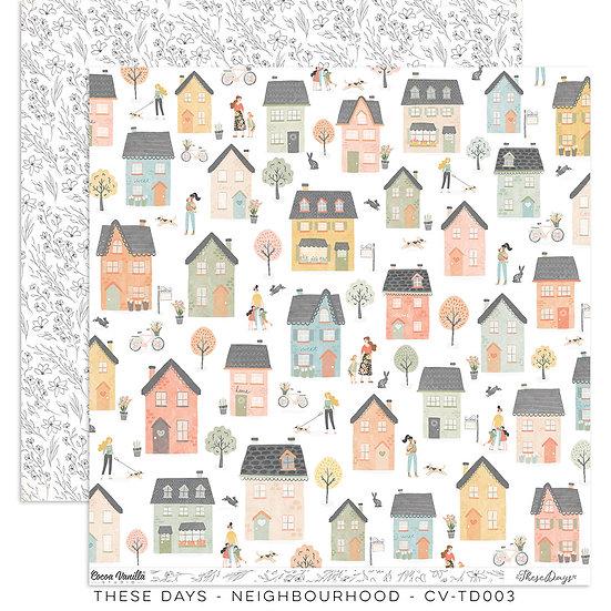 These Days 12 x 12 Paper Neighbourhood // Cocoa Vanilla Studio