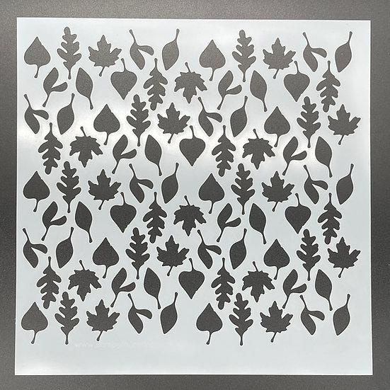 12 x 12 Falling Leaves Stencil