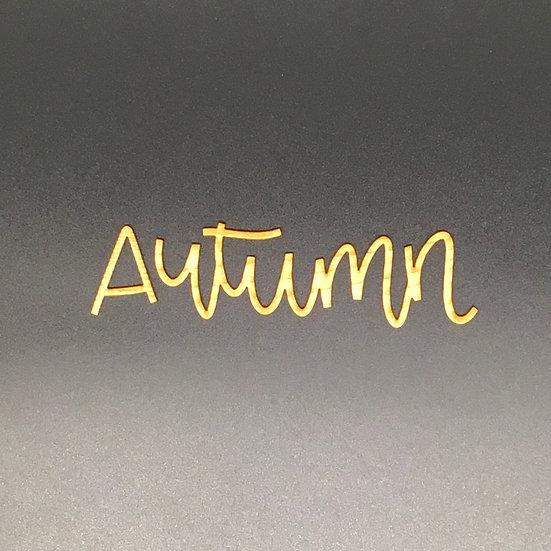 Autumn Wood Veneer