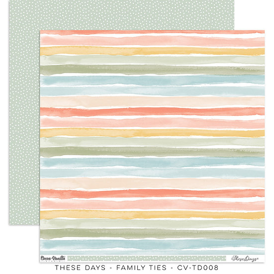 These Days 12 x 12 Paper Family Ties // Cocoa Vanilla Studio
