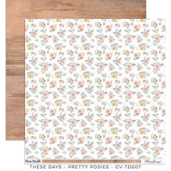 These Days 12 x 12 Paper Pretty Posies // Cocoa Vanilla Studio