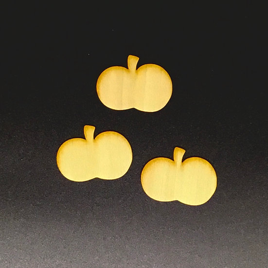 Wood Veneer Pumpkins - Set of 3