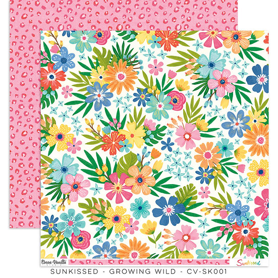 Cocoa Vanilla Studio 12x12 Paper Sunkissed -Growing Wild