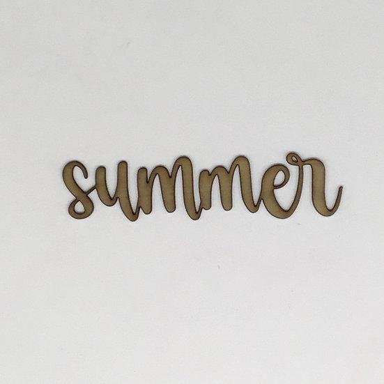 Summer Title Wood Veneer
