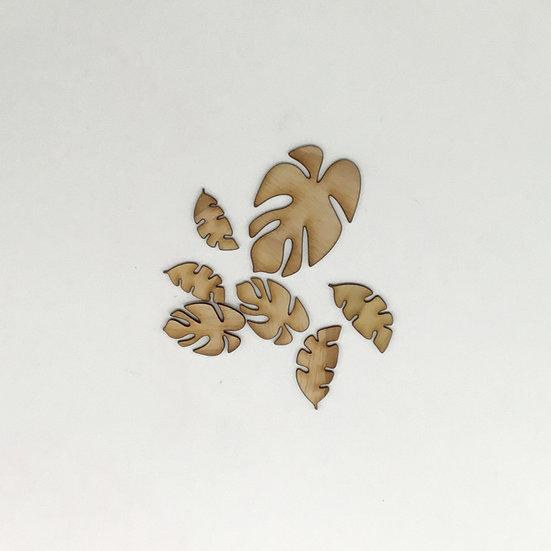 Tropical Leaves Wood Veneer
