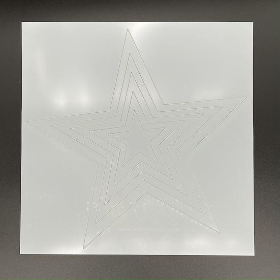 Basics: Stars 12 x 12 Stencil