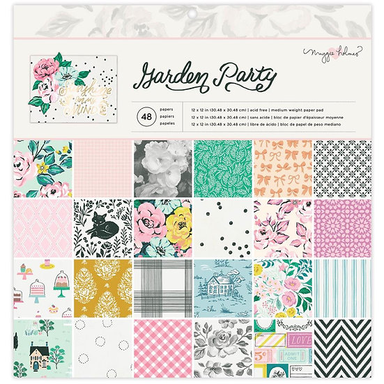 """Maggie Holmes Garden Party Single-Sided Paper Pad 12""""X12"""""""