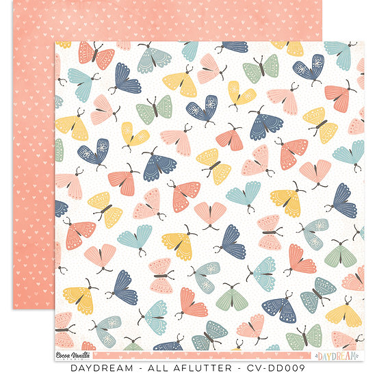 Cocoa Vanilla Studio 12 x 12 Paper - Daydream - All Aflutter
