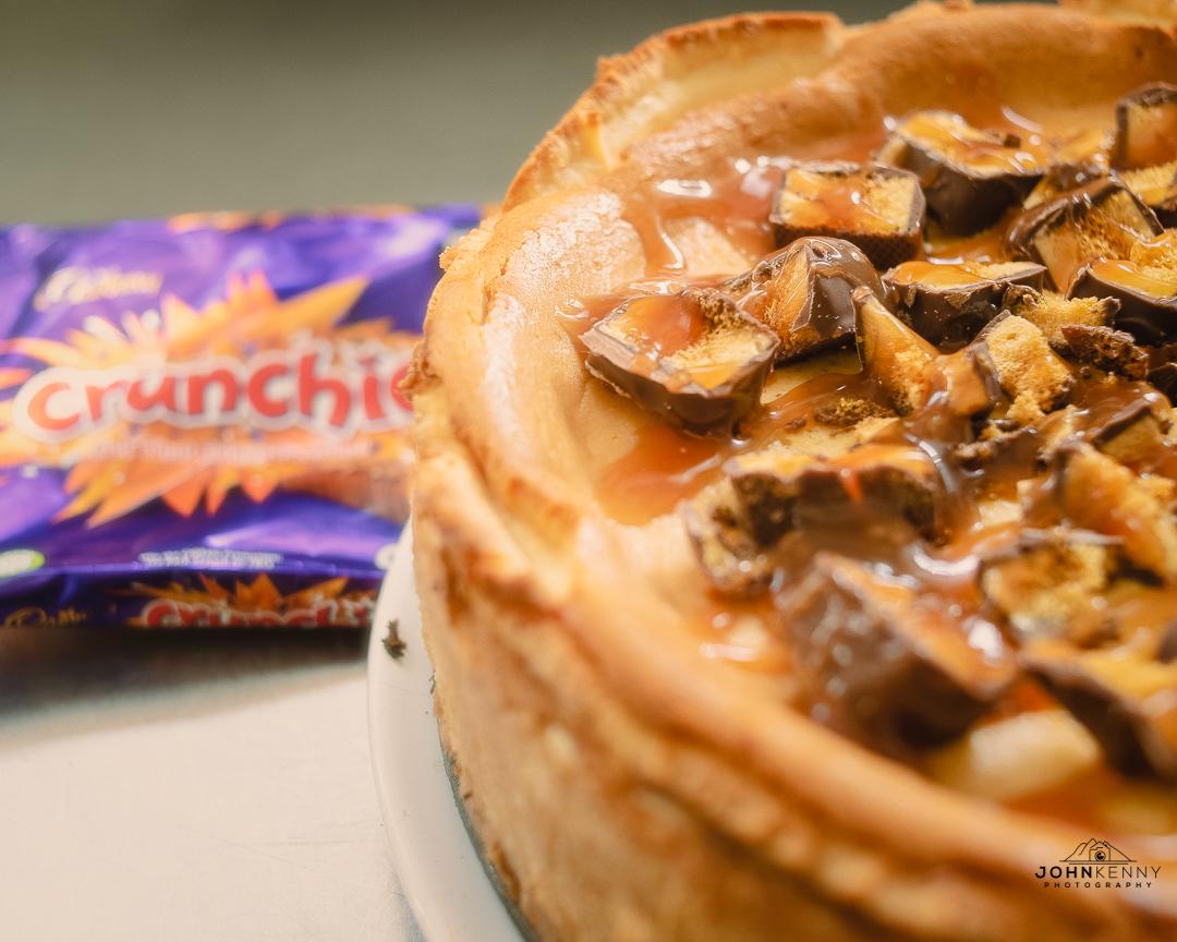 Home-made Crunchie Cheesecake