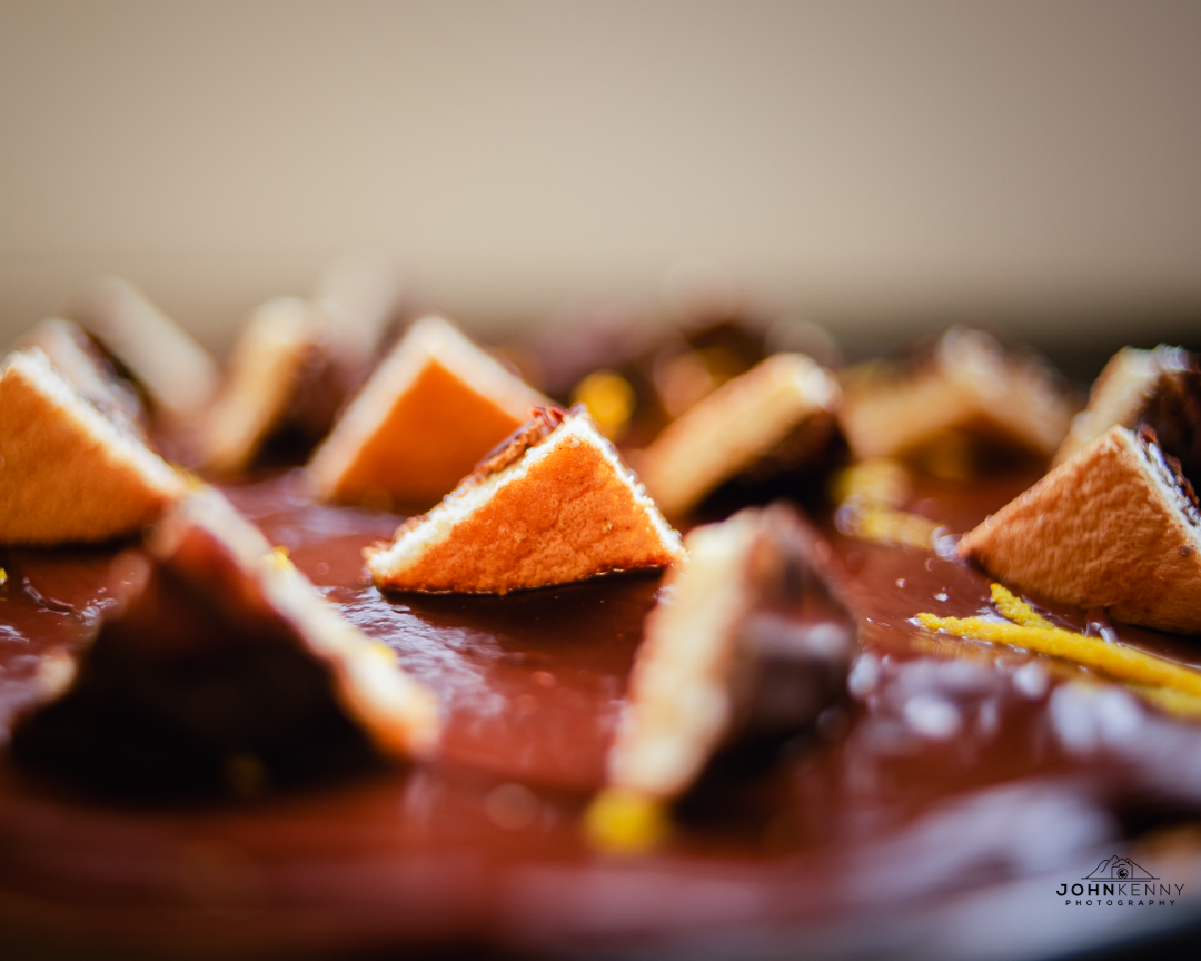 Home-made Jaffa Cheesecake