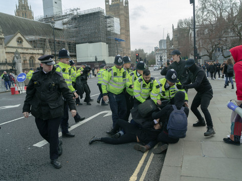 Police conduct at Friday's climate strikes in London sparks legal concerns