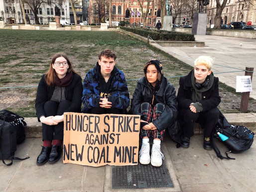 Youth climate activists continue hunger strike against coal mine in the UK
